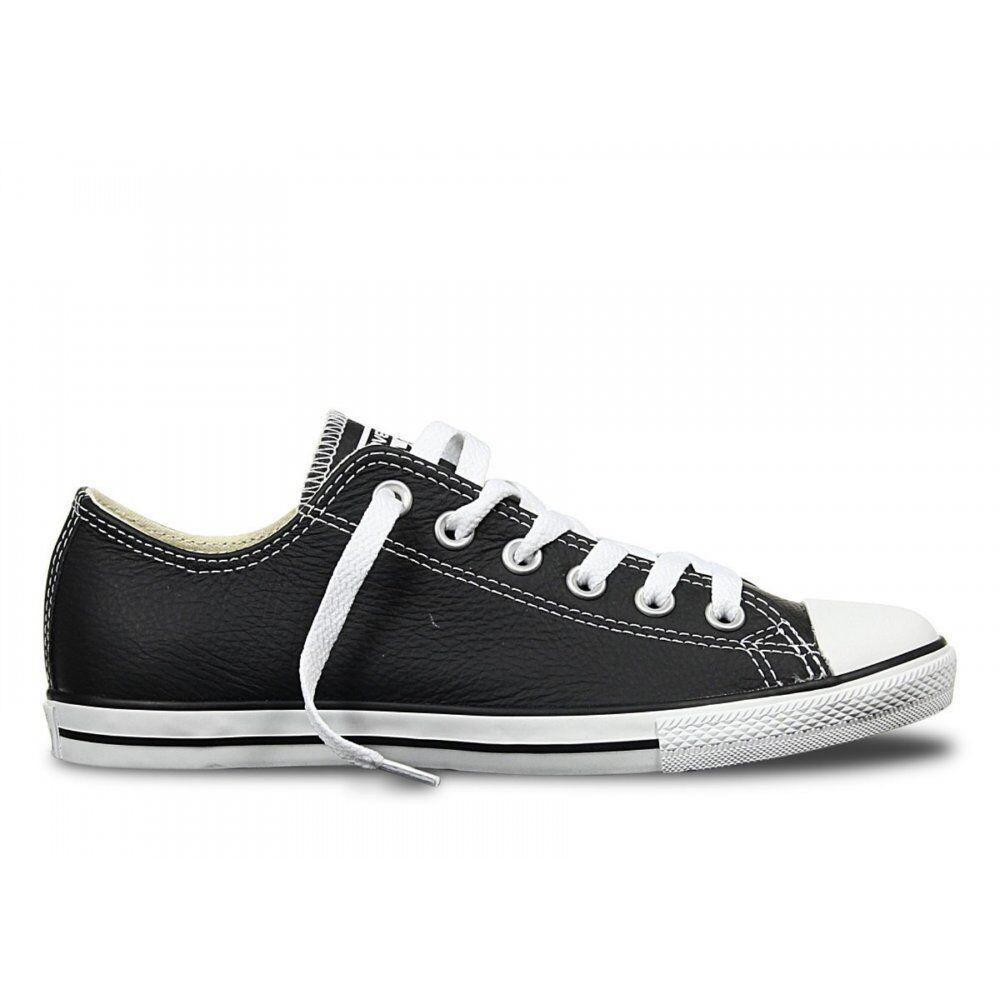 Converse CT Lean Buey De Cuero Negro blancoo (N3) 144649 Unisex Zapatillas