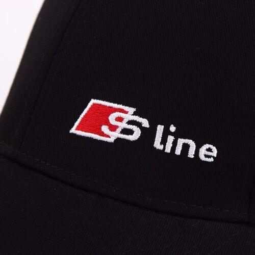 BLACK Audi S Linea Squadra Baseball Cap Hat Sport Motorsport Racing Cotone UK Venditore