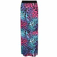 NEW WOMENS LADIES PRINTED JERSEY LONG MAXI SKIRT GYPSY STRETCHY SKIRT SIZE 8-26