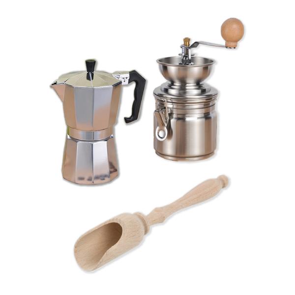 Kaffee     Espresso Set Espressokocher Kaffeekocher Kaffeemühle Kaffeemaß      Spielzeug mit kindlichen Herzen herstellen  cba622