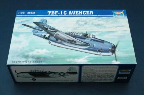 02233 Trumpeter 1//32 Plane TBF-1C Avenger Plastic Attack Aircraft Model Kit DIY