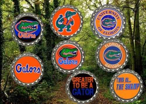 Florida gators Chomp refrigerator magnets lot of 8 cool collectibles Man cave
