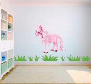 Rosa Pony Caballo Dibujos Animados Niña Cuarto Del Bebé Dormitorio