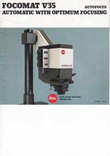 Genuino Original Leitz folleto para focomat 35 enfoque automático con una óptima
