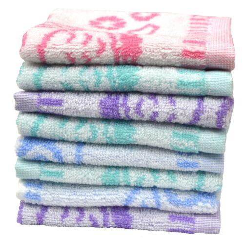 24 x  Waschlappen Handtuch Seiftücher Set Seiftuch Seiflappen Motiv Eule