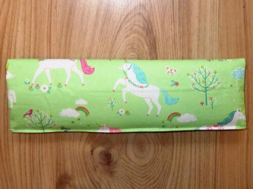 Gurtpolster Sicherheitsgurt Kindersitz Einhörner Grün Gurtschoner Geschenk NEU