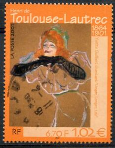 Stamp / Timbre France Oblitere N° 3421 Tableaux Toulouse Lautrec
