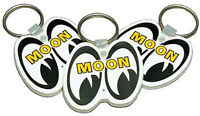 Mooneyes White Rubber Key Chain Each Custom Hotrod Moon Sled Cruiser Model A