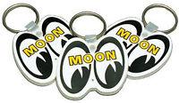 Mooneyes White Rubber Key Chain Each Custom Hotrod Moon Sled Cruiser Model A