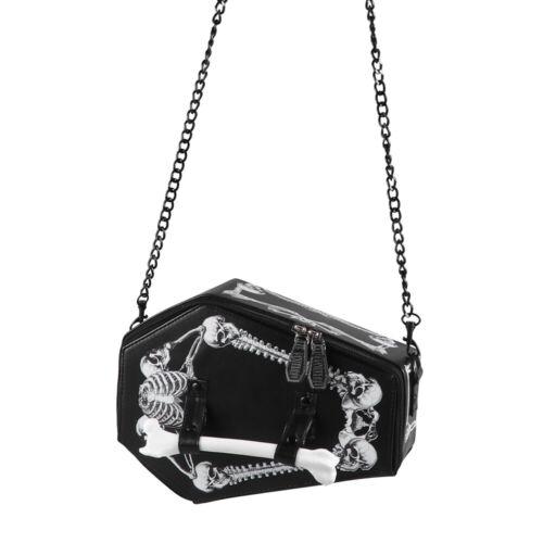 Unsex Handbag Skeleton Bat Bag Harajuku Style Shoulder Bag Messenger Bag
