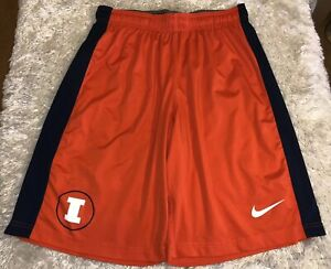 Men-039-s-Nike-Dri-Fit-Illinois-Fighting-Illini-Athletic-Shorts-Size-Medium-Orange