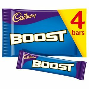 Details About Cadbury Boost Chocolate Bar Multipack 4 X 40g