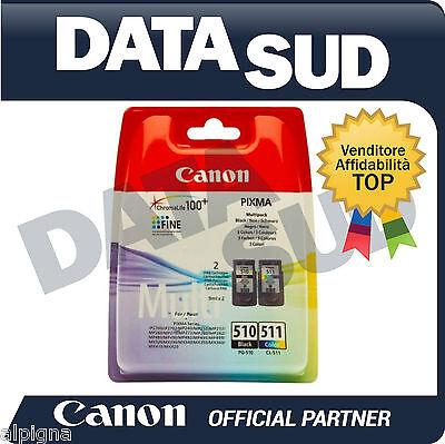 Canon Cartucce Inkjet Multipack Pg-510,cl-511 Originali Nero + Tri-colore Ad Ogni Costo