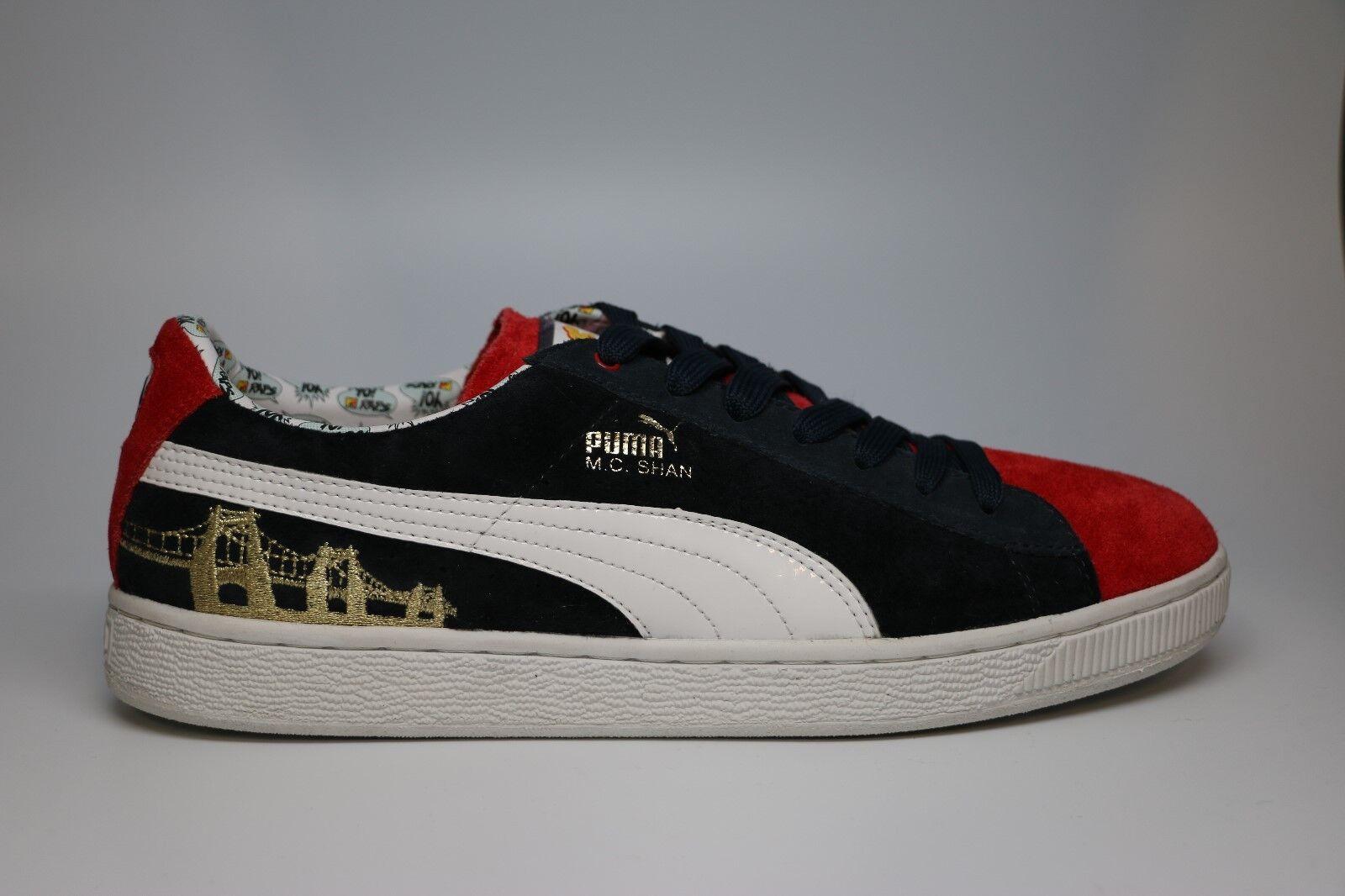 PUMA Shoes MC Shan Suede MTV Raps 2 Navy Blueredwhite SNEAKERS Size 7.5