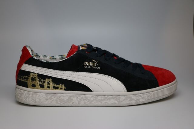 size 40 46617 1234c PUMA Shoes MC Shan Suede MTV Raps 2 Navy Blue/red/white SNEAKERS Size 7.5