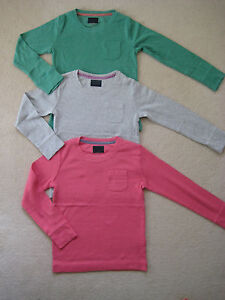 NEUF-FILLES-MINI-BODEN-manches-longues-T-shirt-haut-1-5-14-an-3-couleurs