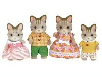 Calico Critters Sandy Cat Family Of 4