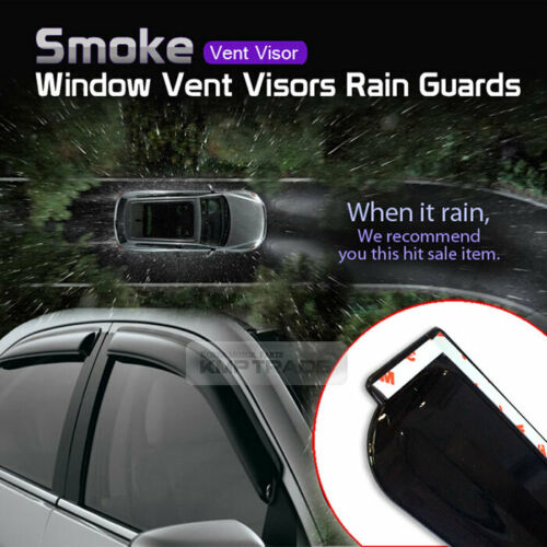 33/_Smoke Window Sun Vent Visor Rain Guards K004 For HYUNDAI 2006-2012 Santa Fe