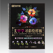 Manicure Nail Rose Painting Model Book Nail Art Magazine Women's Chinese Version