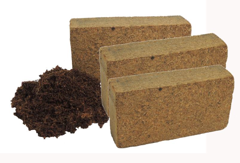 3er Set Coconut Soil Coconut Substrate Potting Soil Ungedüngt Peat-Free