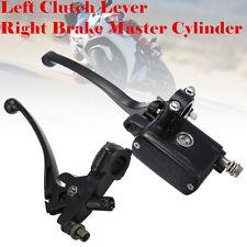 "7/8"" Handlebar Master Cylinder Hydraulic Brake Control + Clutch Lever Motorcycle"