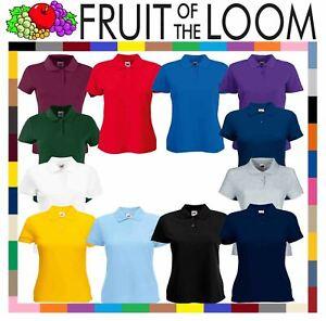 7ba6fabc Fruit Of The Loom Ladies Lady Fit Premium PiqueCadat collar Polo ...