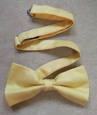 """TOP QUALITY MENS DICKIE BOW TIE PALE CANARY YELLOW ADJUSTABLE BOWTIE 14"""" TO 20"""""""