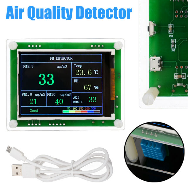 Household PM2.5 Detector Module Air Quality Dust Sensor TFT LCD Display Monitor