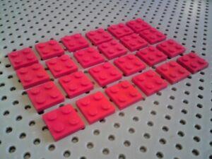 Blue x24 3022 Lego Plate 2x2