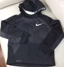 NEW Nike Therma Swoosh Youth Boy/'s Size 6 Hoodie Sweatshirt 86B215-R1N Red Black