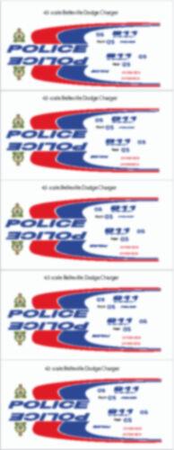 FRR DODGE CHARGER 2012-2014 VER 1//43 SCALE BELLEVILLE ONTARIO POLICE DECALS
