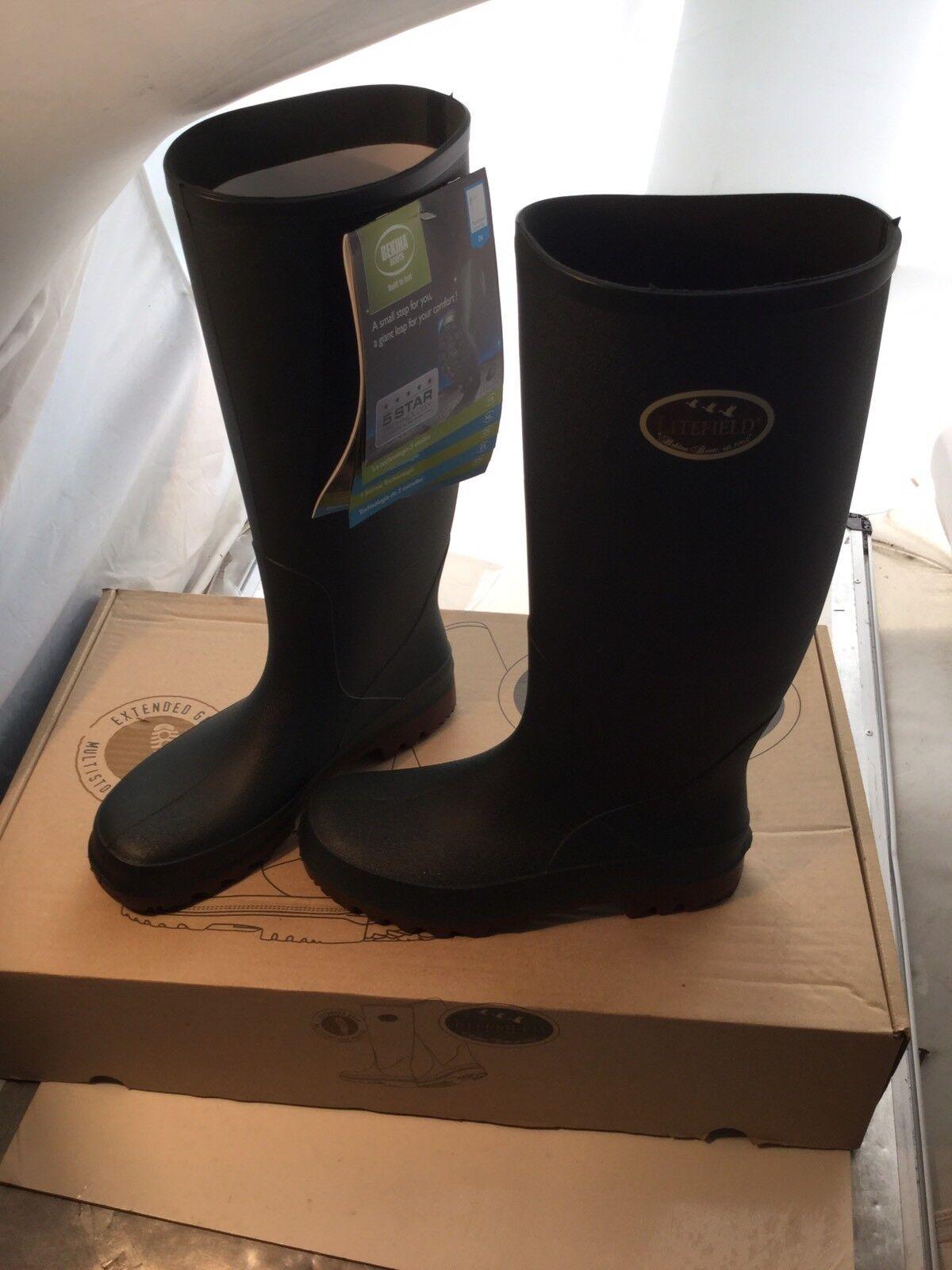 Bekina Litefield 04 Wellington Boot Green Brown (SO10 5170P100) - Ref  A