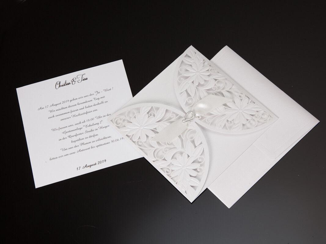 Einladungskarten Hochzeit FE3695 mit Umschlag  Hochzeitseinladungskarte | Haben Wir Wir Wir Lob Von Kunden Gewonnen  | Creative  21957e