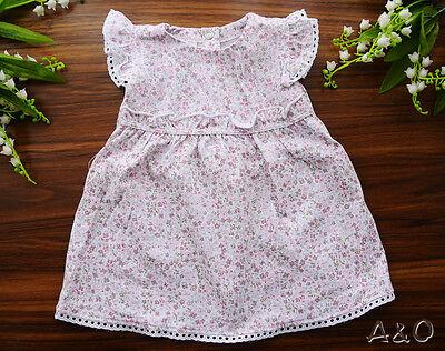 Kleid Sommerkleid Rosa Baby Kleidchen 56 62 68 74 80 86 Babykleid kurzarm