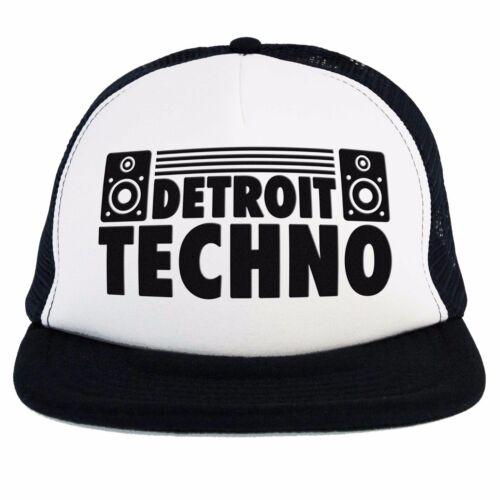 musica elettronica dance Cappello Techno Detroit Dj Trucker cap nero bianco