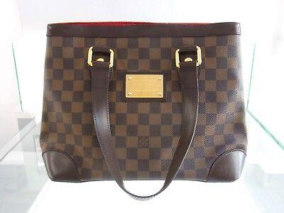b37efbaab2 Louis Vuitton Hampstead PM Borsa Damier livello CANVAS MARRONE BAG  ORIGINALE SMALL   eBay