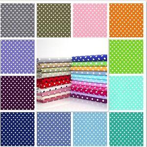 6-7mm-Polka-Dot-Spot100-Cotton-Poplin-Fabric-Rose-and-Hubble-Spots-Dots
