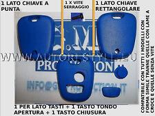 COVER GUSCIO SCOCCA BLU PER CHIAVE TELECOMANDO 2 TASTO PEUGEOT 206 107 207 307