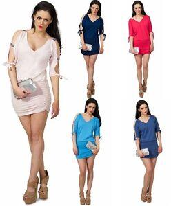 Sexy-Mini-Dress-Top-UK-Size-8-18