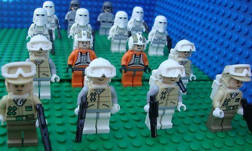 Lego Star Wars Hoth Battle Snow Rebel Troopers Army minifigs NEW