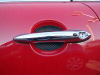 Mini Cooper Auto Accessory Carbon Fiber Door Handle Paint Scratch Guards 4pk Usa