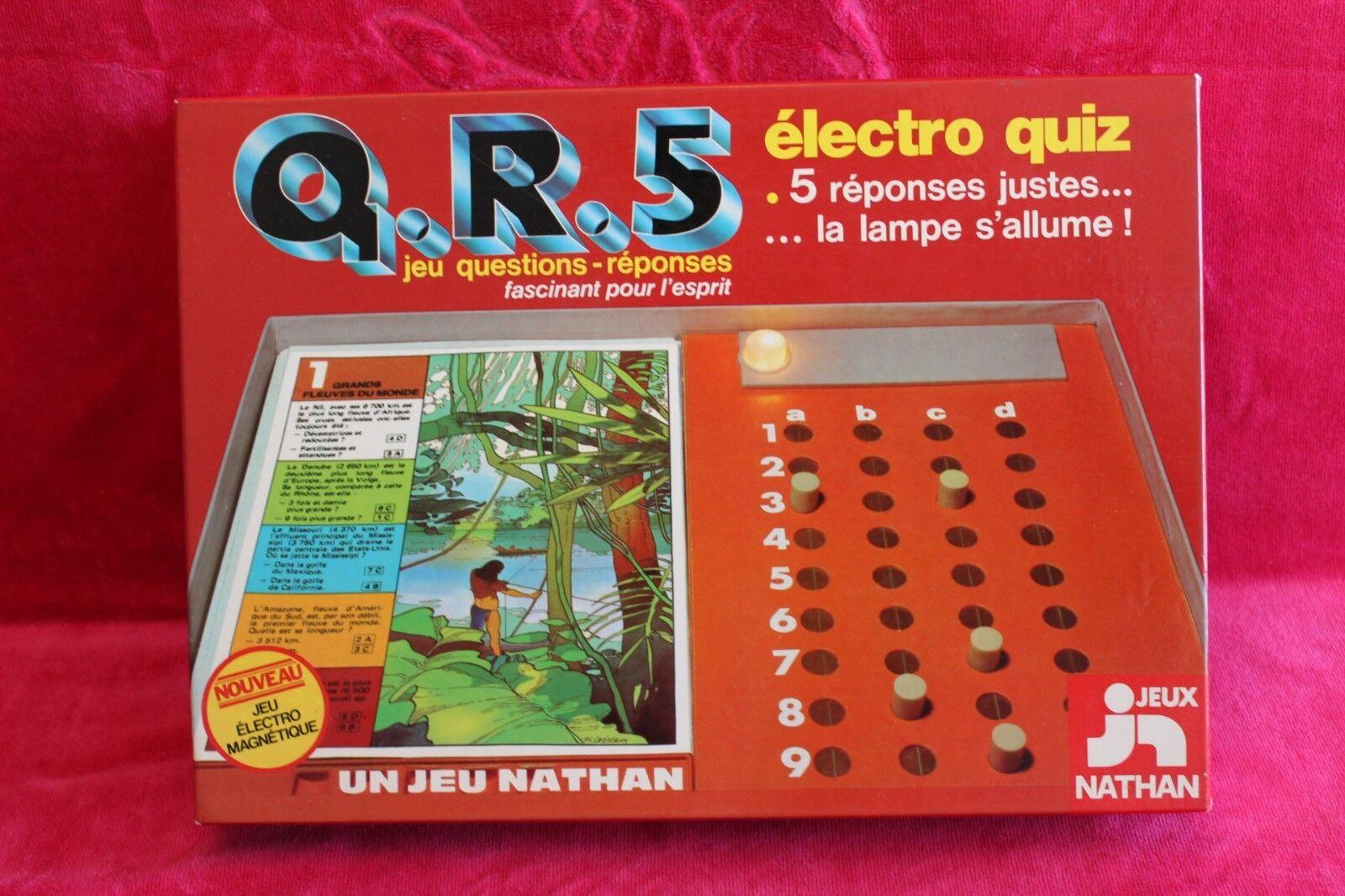 Jeu électronique vintage de questions réponses Nathan - Q.R.5 électro quiz 1978