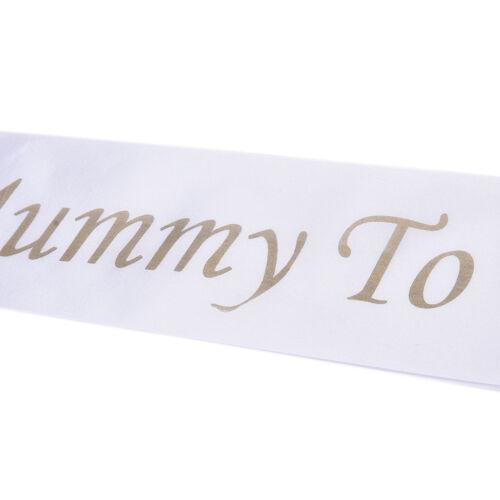 Footprint Bear Mummy To Be Satin Ribbon Sash New Mom Baby Shower Party FaSPUK