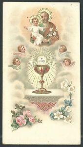 100% De Qualité Estampa Antigua De San Jose Andachtsbild Santino Holy Card Santini