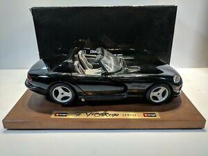 Bburago-1-18-1993-Dodge-Viper-RT-10-Negro-Caja-Hecha-En-Italia