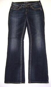 Silver-Aiko-BootCut-Stretch-Denim-Jeans-W-29-L-32-Women-039-s-sz-29-x-32-Boot-Cut