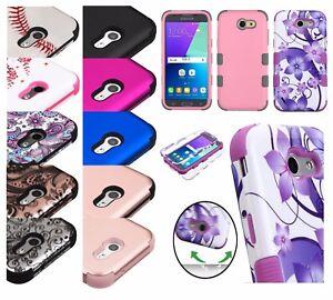 Samsung-Galaxy-J7-V-Sky-Pro-perx-Hybride-Antichoc-Armure-Rubber-Hard-Case-Cover