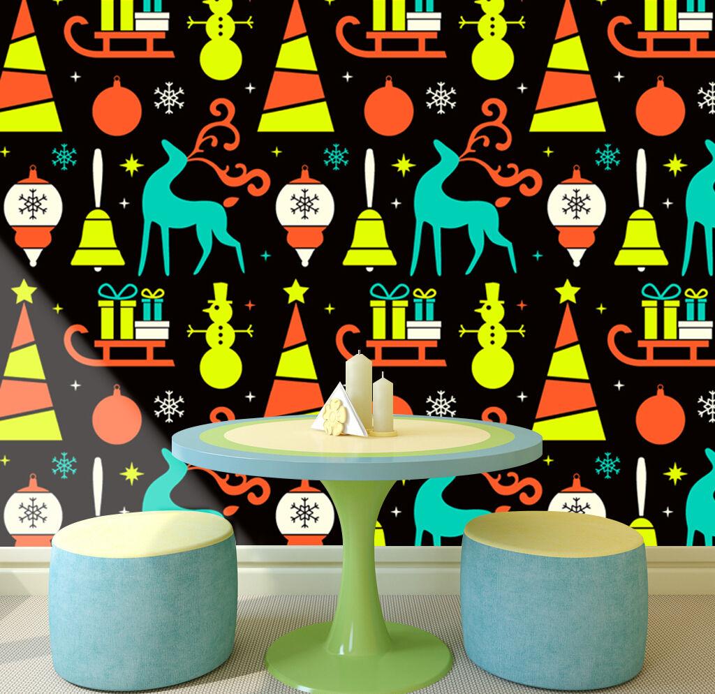 3D Weihnachten Helle Muster 44 Fototapeten Wandbild BildTapete Familie DE