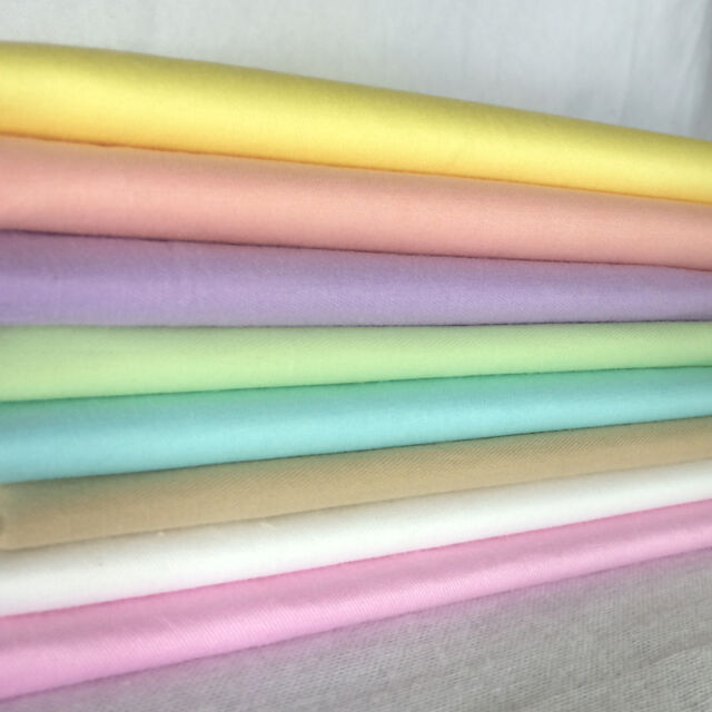 """Sewing Rainbow 8 Assorted Solid Pre Cut 10"""" Squares Quilt Cotton Fabric F405"""