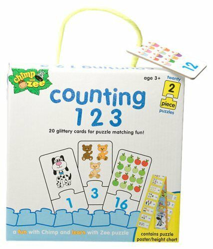 Chimp & Zee Counting 123 Puzzle Pre-School Develop Observation & Matching Skill